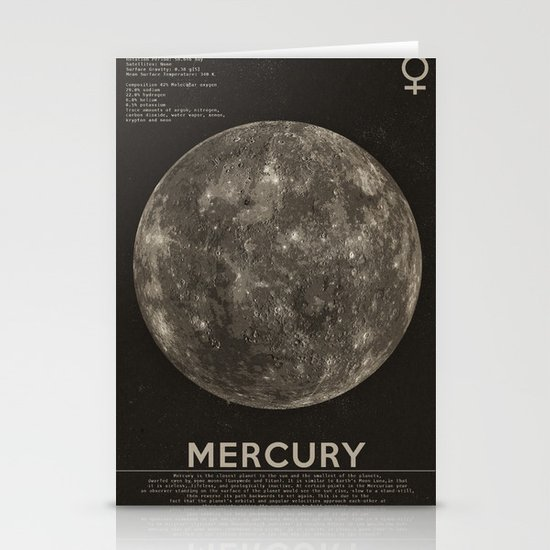 Mercury Stationery Card