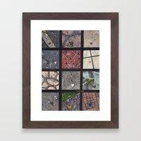 Love on the ground Framed Art Print