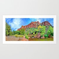 Oak Creek At Red Rock Cr… Art Print