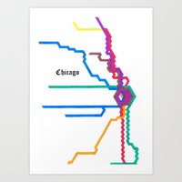 Chicago Subway Art Print