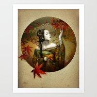 Momijigari [Maple Viewin… Art Print