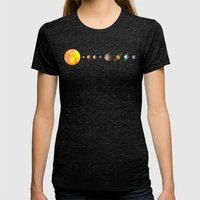 Solar System  Womens Fitted Tee Tri-Black SMALL