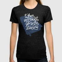 Library Womens Fitted Tee Tri-Black SMALL