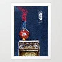 Love Keep Hot Art Print