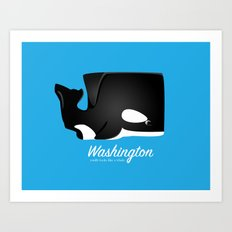 The Washington Whale Art Print