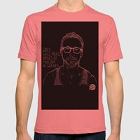 Hey Girl, The Gosling Mens Fitted Tee Pomegranate SMALL