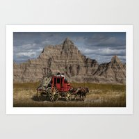 Traveling Through The Ba… Art Print