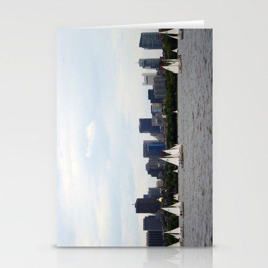 Boston skyline Stationery Card