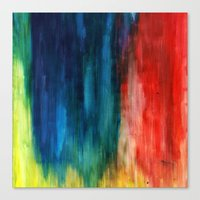 Spring Yeah! - Abstract paint 1 Canvas Print