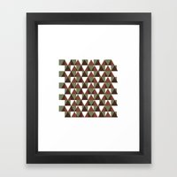 #350 Interference – Geometry Daily Framed Art Print