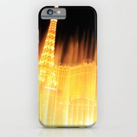iPhone & iPod Case featuring The golden fountains of Bellagio in Vegas by kreatox