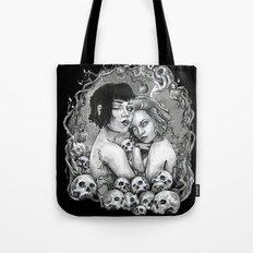 Skull Nouveau Babes Tote Bag