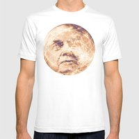 Man in the Moon Phases Mens Fitted Tee White SMALL