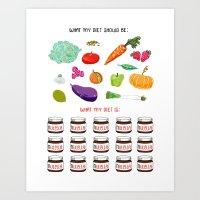 Nutritious Diet Art Print