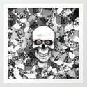 Skulls With Eyes Art Print