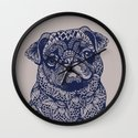 MANDALA OF PUG Wall Clock