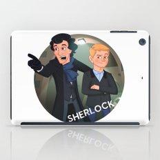 Sherlock Holmes and Watson cartoon iPad Case
