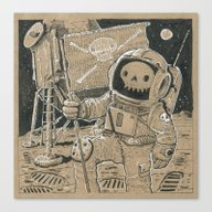 First On The Moon Canvas Print
