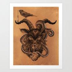 Coffee Goat Art Print