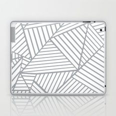 Abstraction Lines Zoom Grey Laptop & iPad Skin