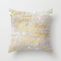 K&G 2 Throw Pillow
