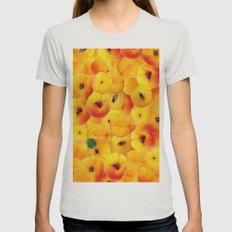 Fruit Apricot 2 Womens Fitted Tee Silver SMALL
