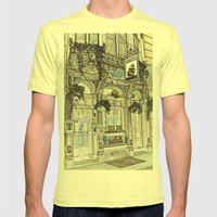 The Ship Public House London Mens Fitted Tee Lemon SMALL