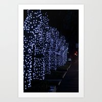 Christmas Blue Light Spe… Art Print