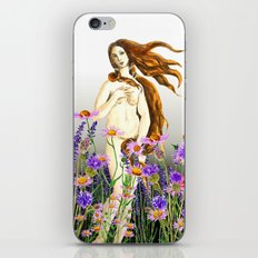 Venus and flower iPhone & iPod Skin