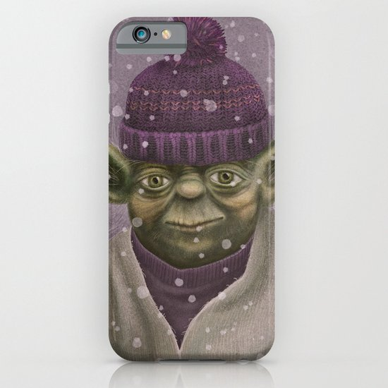 Christmas Yoda (fiolet) iPhone & iPod Case