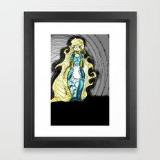 Dark Allie. Framed Art Print