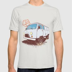 UAZ 452 Mens Fitted Tee Silver SMALL