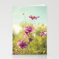 summer cosmos Stationery Cards