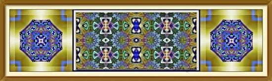 Emerald, Gold and Lapis Art Print