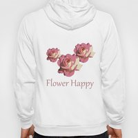 Pretty pink rose garden flower. Floral nature photography.   Hoody