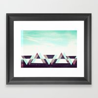 Field Of Triangles. Framed Art Print