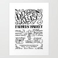 Diagon Alley Farmers' Market Art Print