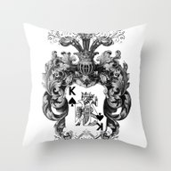 Poker King Spades Black … Throw Pillow