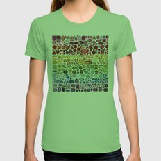 Gem Collection Womens Fitted Tee Grass SMALL