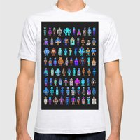 Pixel Heroes Mens Fitted Tee Ash Grey SMALL
