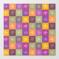 Autumn Checkerboard Canvas Print