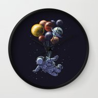 Wall Clock featuring Space Travel by Carbine