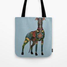 greyhound azure blue Tote Bag