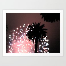 Fireworks over Santa Barbara Art Print