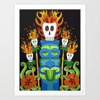 Calavera Tikis Art Print