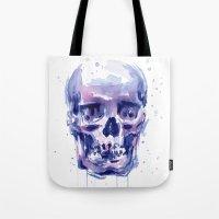 Skull Watercolor Tote Bag