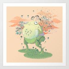 Frog Fungi Art Print