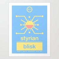 styrian blisk single hop Art Print