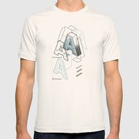 The Exploded Alphabet / A Mens Fitted Tee Natural SMALL