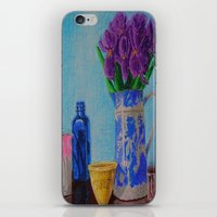 Iris and Blue Willow Pitcher iPhone & iPod Skin